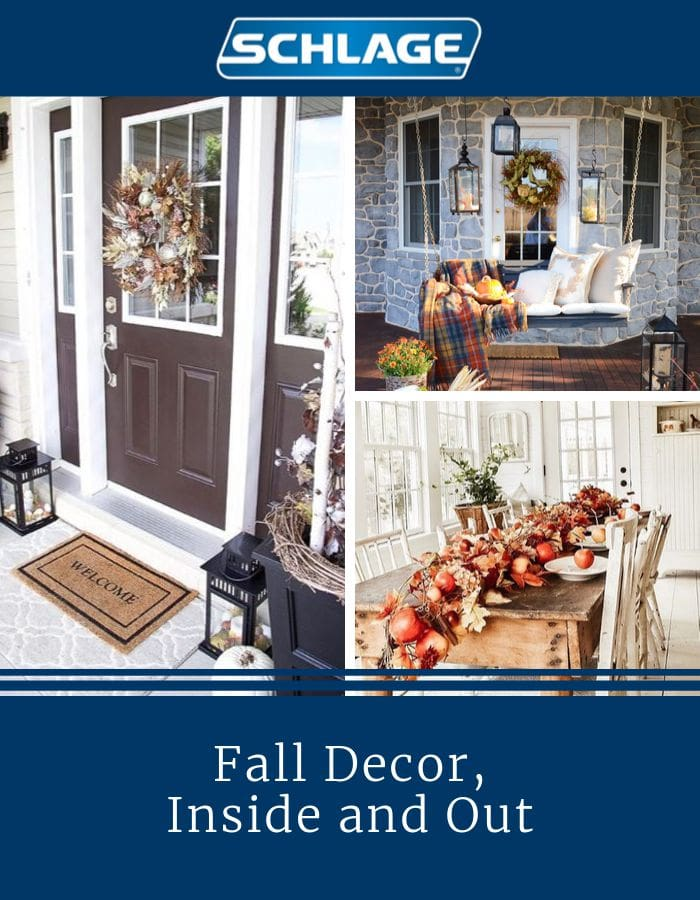 Fall decor, inside and out.