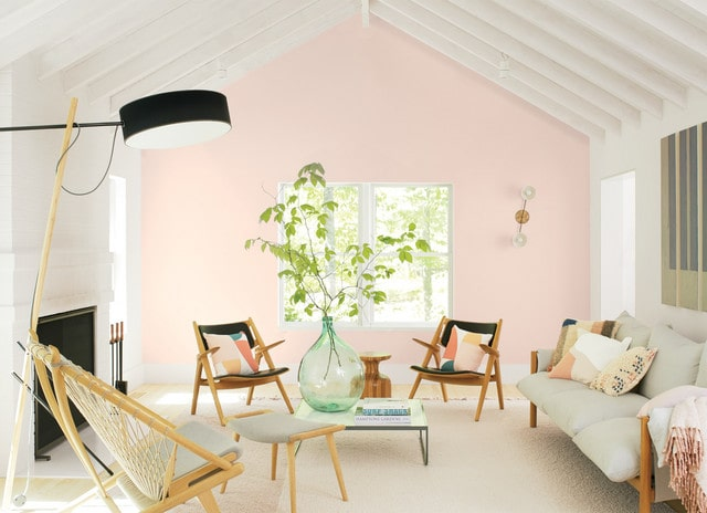 Living room painted in Benjamin Moore's 2020 color of the year.