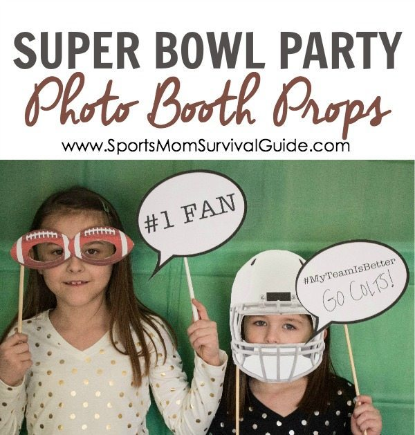 Super bowl party photo booth props.