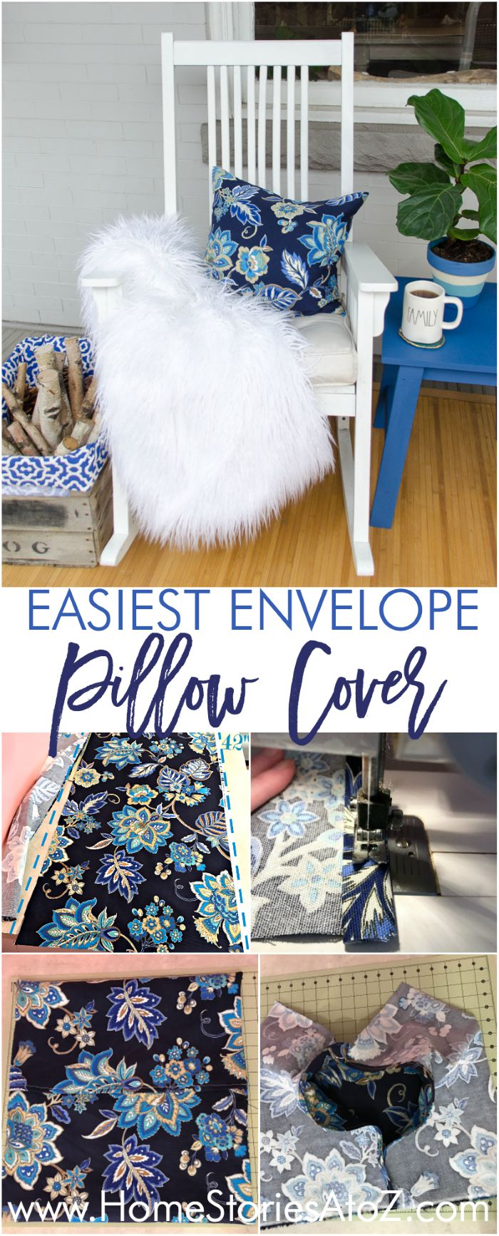 DIY front porch pillow cover.