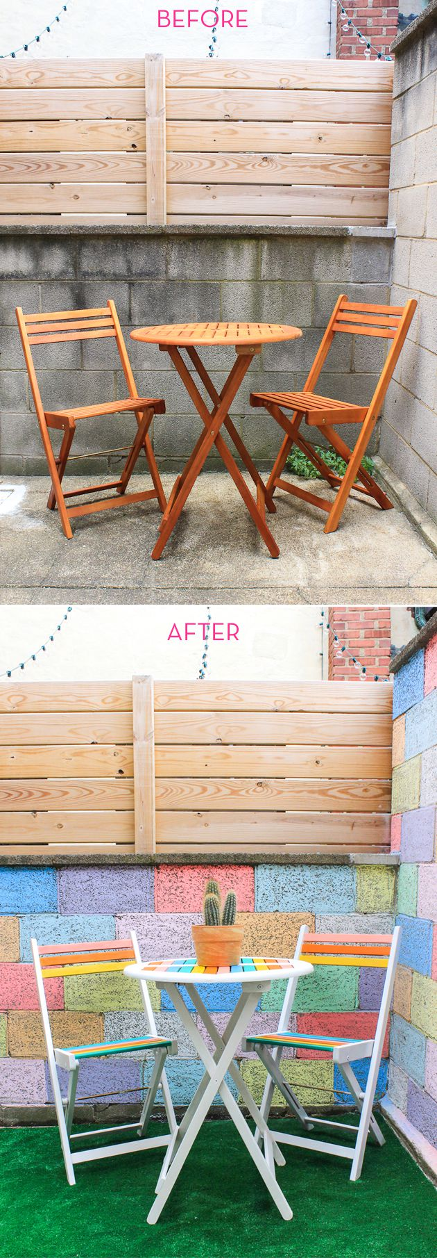 DIY painted bistro set.