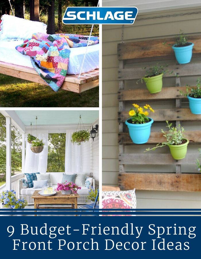 9 budget-friendly spring front porch decor ideas.
