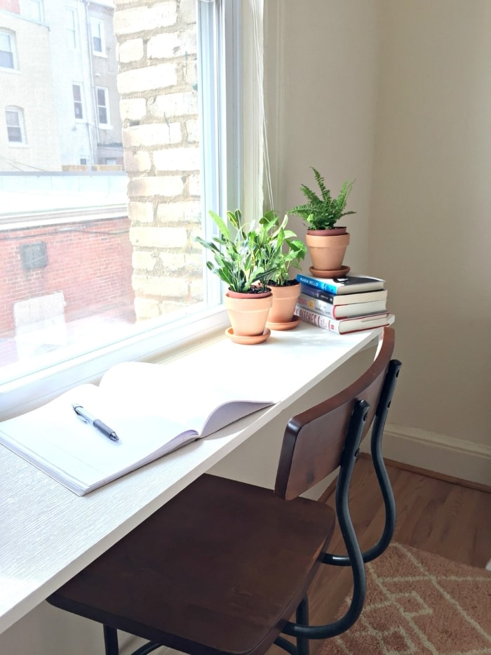 Window sill home office
