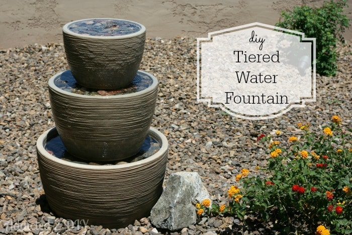 DIY tiered water fountain.