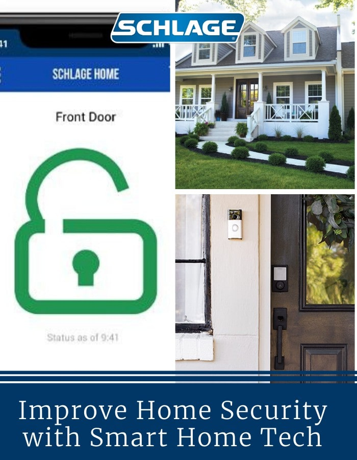 Improve home security with smart home tech.