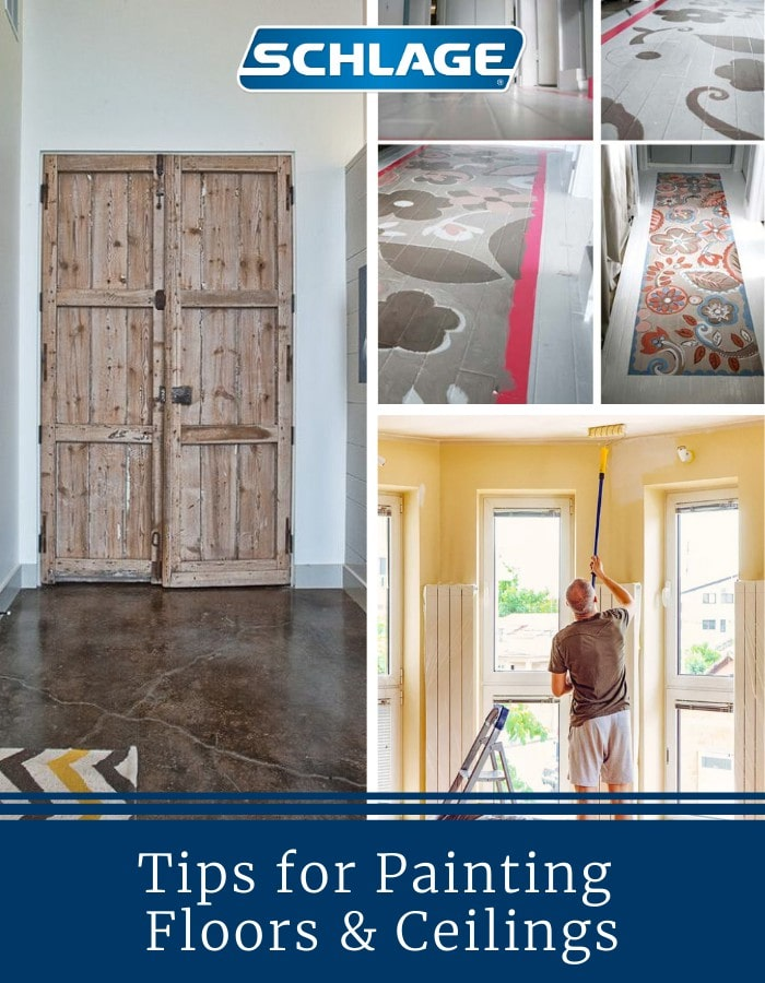 Tips for painting ceilings and floors.