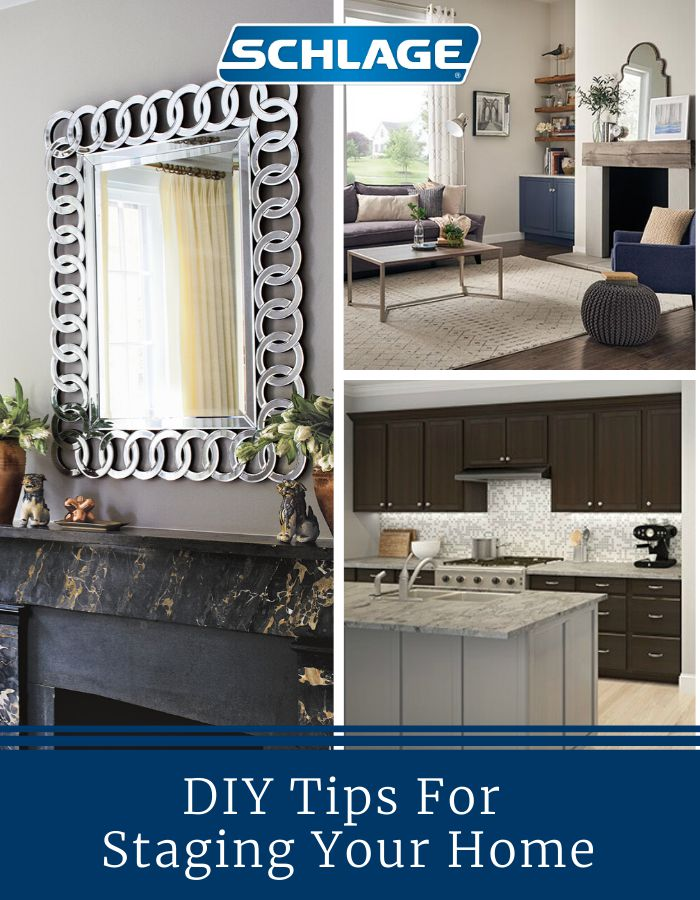 DIY tips for staging your home to sell.