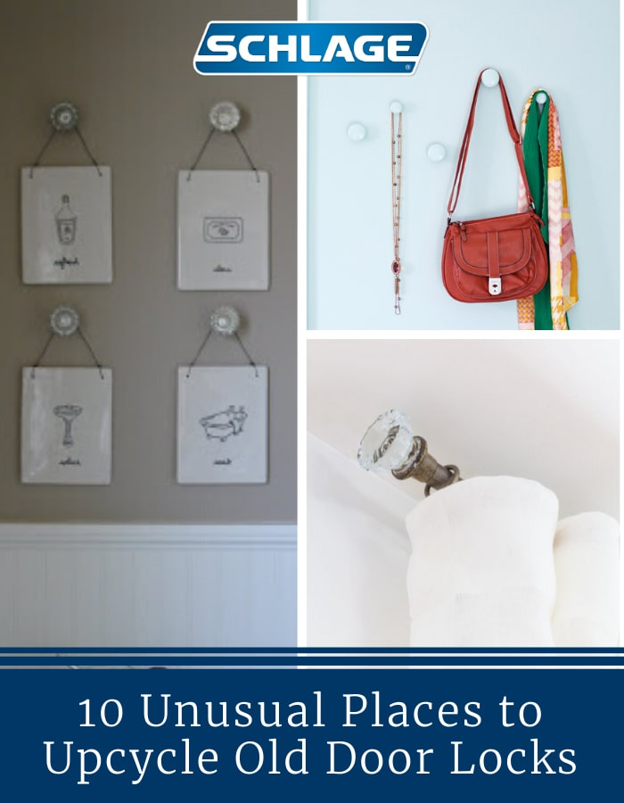 10 ways to upcycle old door locks.