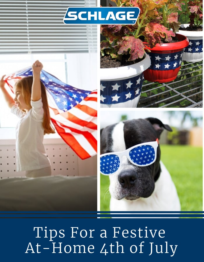 Ideas for celebrating 4th of July at home.