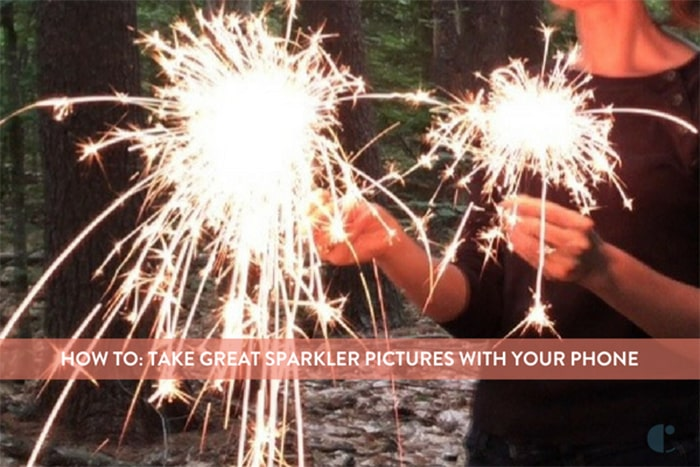 How to take sparkler photos with phone.