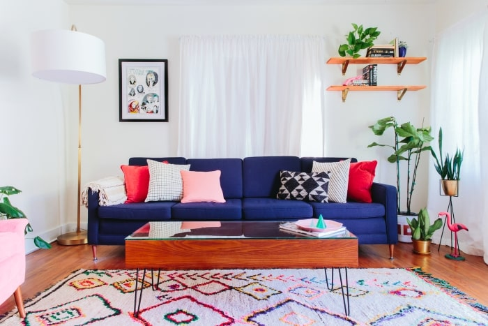 Bungalow maximalist living room