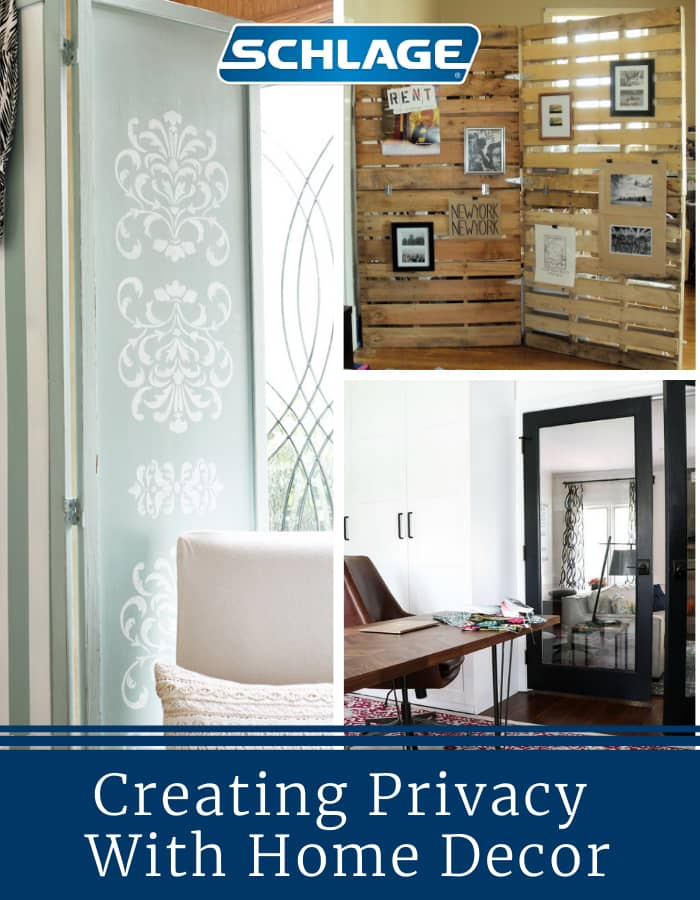 Creating privacy with home decor.