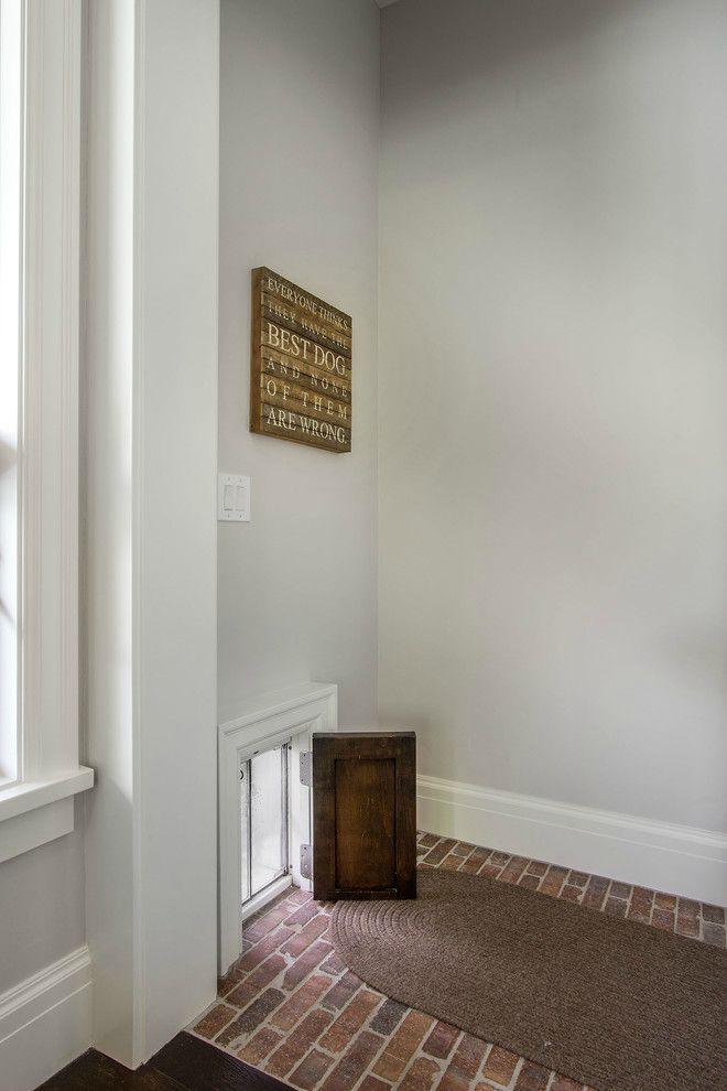 Wood dog door.