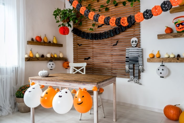Halloween party decorations.