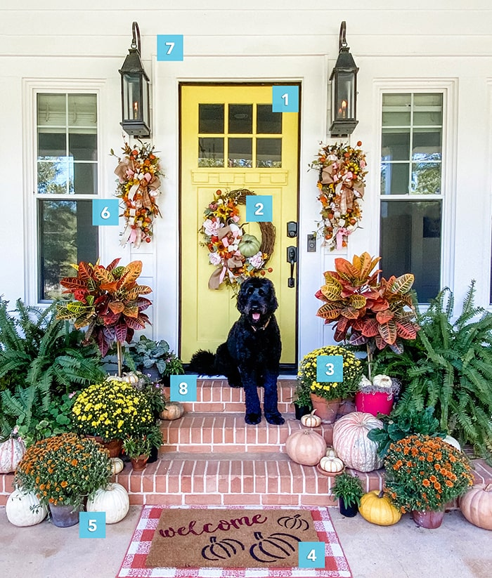 8 steps to the perfect fall front door.