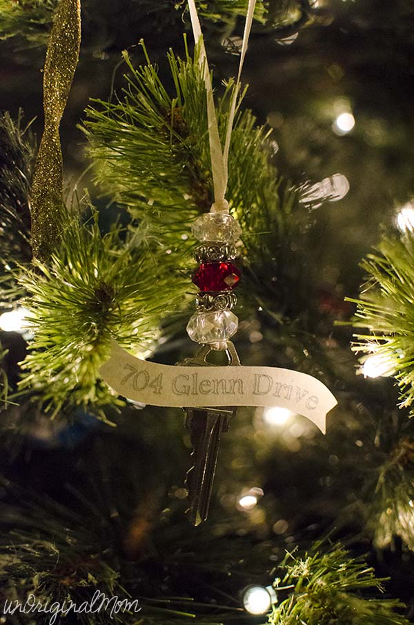 House key keepsake ornament.