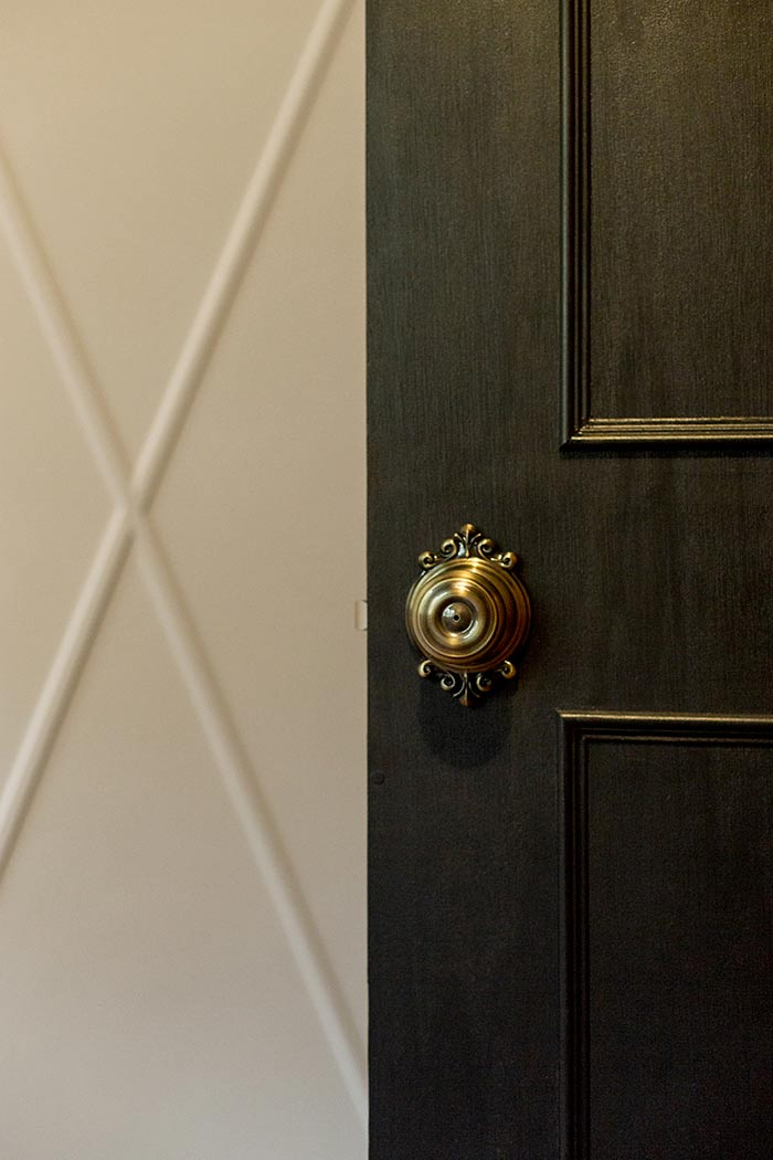 Jenna Sue Design door makeover after with Schlage door locks.