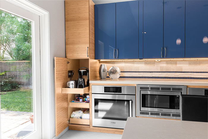 Universal design kitchen for accessibility and aging in place.