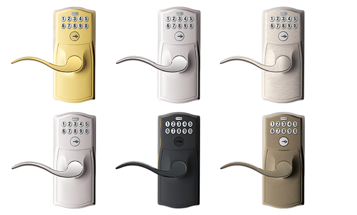 Schlage Connected Keypad Lever - Zwave lever - Styles