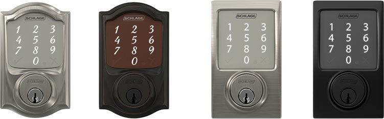 Schlage Sense Smart Deadbolt - Bluetooth smart lock - Styles