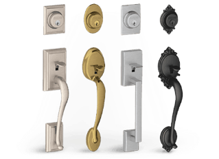 traditional styles hardware knob schlage style modern home latitude lever door backplates knobs en