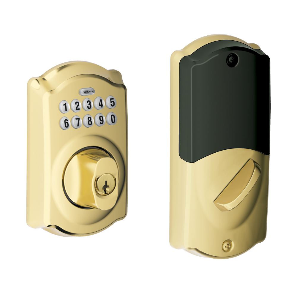 camelot style connected keypad deadbolt door lock schlage. Black Bedroom Furniture Sets. Home Design Ideas