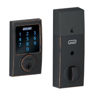 Schlage Connect Touchscreen Deadbolt With Alarm With