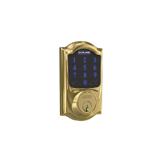 schlage connect smart deadbolt with alarm with camelot trim, z-wave enabled