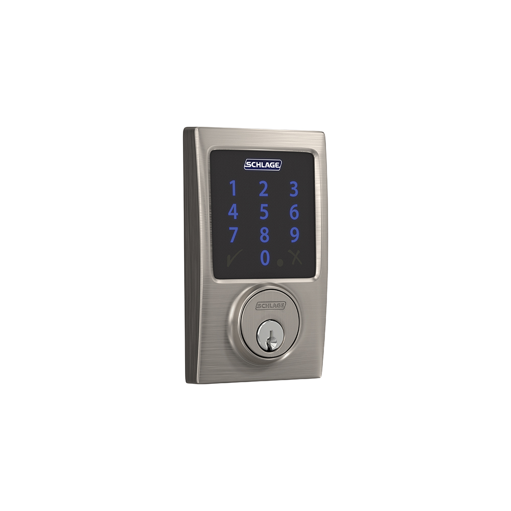 Schlage Connect Smart Deadbolt with alarm with Century trim, Z-wave enabled