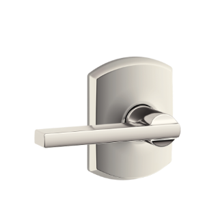 Latitude Lever With Greenwich Trim Keyed Entry Lock