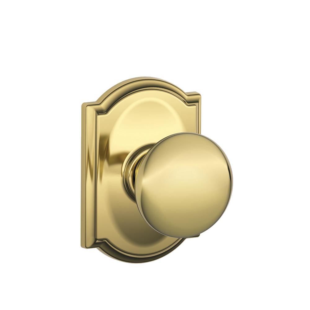 Schlage Plymouth Bright Brass Hall /& Closet Door Knobs