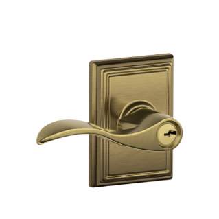 Accent Lever With Addison Trim Keyed Entry Lock