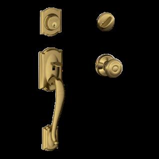 Camelot Single Cylinder Handleset And Georgian Knob
