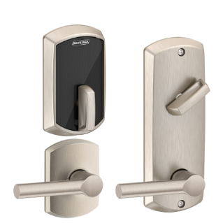 Lock Pick Key >> Schlage Control Smart Interconnected Locks with Greenwich trim and Broadway lever