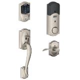 Works with Alexa via SmartThings Aged Bronze Schlage Z-Wave Home Keypad Lever FE599NX CAM 716 ACC 716