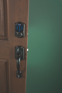 Schlage Connect Touchscreen Deadbolt With Camelot Trim