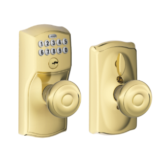 Keypad Knob With Camelot Trim And Georgian Knob With Flex Lock