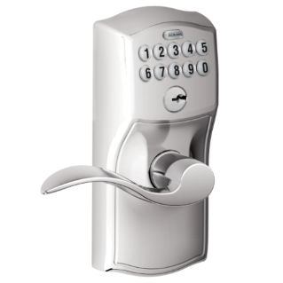 Keypad Lever With Camelot Trim And Accent Lever With Flex Lock