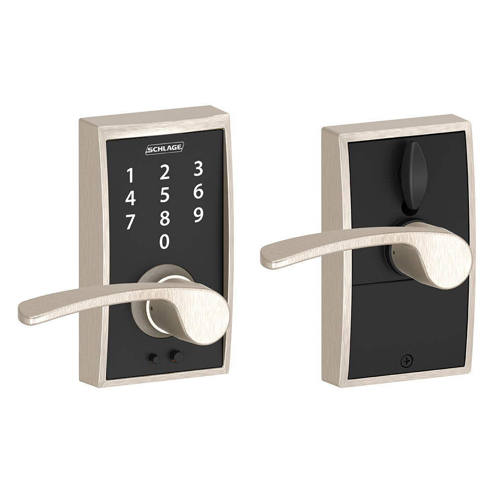Schlage Touch Keyless Touchscreen Lever with Century trim and Merano Lever