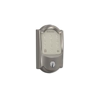 Schlage Encode Smart WiFi Deadbolt Lock Camelot Trim Satin Nickel