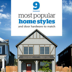 9 most popular home styles and door hardware to match