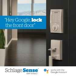 Schlage Sense Smart Deadbolt - Google Assistant