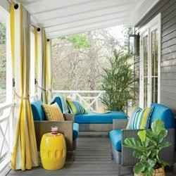 Spring front porch decor.