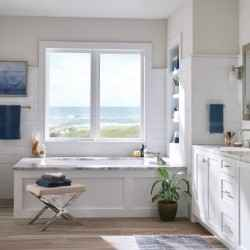 Bathroom design with beach view