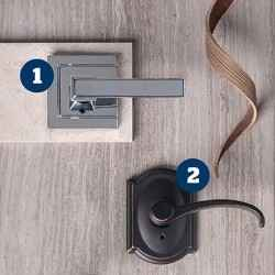 Leverage your look with Schlage's most stylish levers.