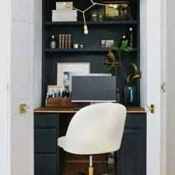 Home office in closet | Schlage