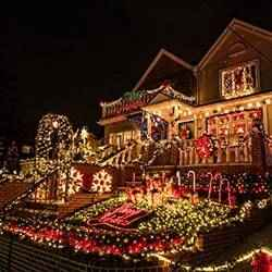 Christmas light display | Schlage