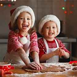 Kids making Christmas cookies | Schlage