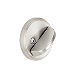 One sided deadbolts with exterior plate