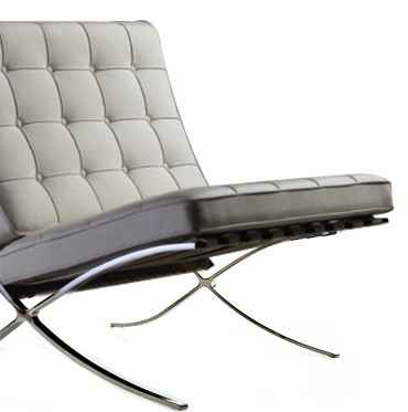 The Barcelona Chair is a brilliant example of mid-century modern contours and angles.